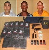 Apresan oficial Policía Nacional con droga