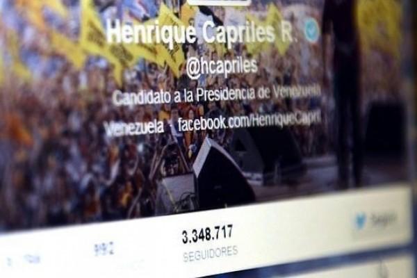 Capriles, el dirigente iberoamericano más seguido en Twitter