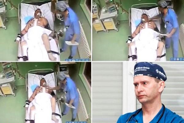 En Rusia, cirujano golpea a su paciente luego de operarlo del corazón (Fuerte video)