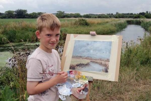 Un niño de 10 años es millonario gracias a sus cuadros (Fotos)