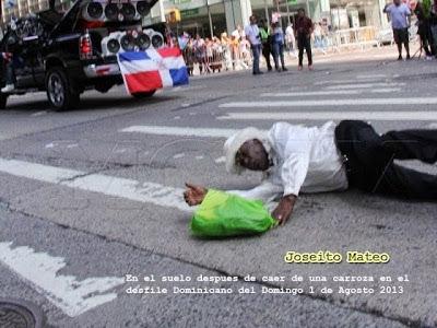 Joseito Mateo cae en desfile de NY; una pena…