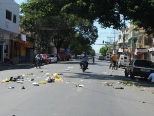 Manifestaciones violentas siguieron hoy en el barrio Capotillo