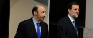 Mariano Rajoy And Alfredo Perez Rubalcaba Meet Face To Face For El Debate 2011