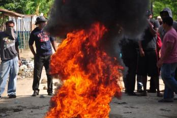 En Santiago, comunidades de Licey en huelga por 24 horas
