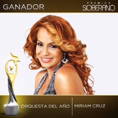 Miriam Cruz Gana Como Orquesta del Año & Merengue del Año