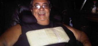 Anthony Ríos, de buen ánimo en su residencia campestre