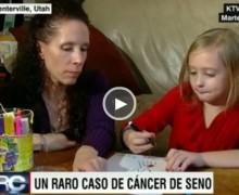 Niña de ocho años lucha contra el cáncer de seno