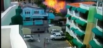 VIDEO: Vecinos huyen despavoridos al momento de explotar planta de gas….
