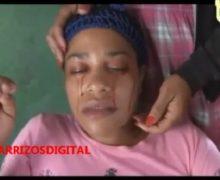 MUJER LLORA SANGRE en la ciudad de Azua. VIDEO.