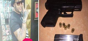 """Piratero de CD """"La Melma"""" apunta con arma de fuego ilegal a empresario artístico"""