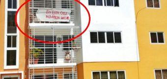 """""""En esta casa robaron anoche"""", reza letrero en apartamento Santiago…"""