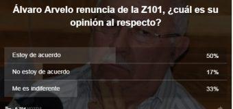 Mayoría de lectores está de acuerdo con renuncia de Álvaro Arvelo de la Z 101