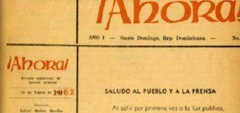 UN POCO DE HISTORIA: Primer editorial de la Revista Ahora…