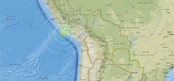 Un terremoto de magnitud 7,1 sacude la costa de Perú y causa 16 heridos