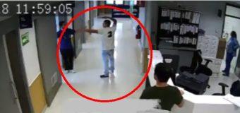 Hombre amenaza con un arma a pacientes y personal médico en hospital