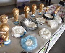 Incautan en Argentina droga en trofeos falsos del Mundial…