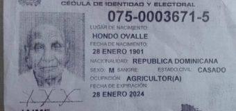 Fallece el hombre más viejo de República Dominicana