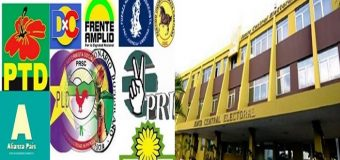 Plazo para inscribir candidatos oficiales vence el 27 de octubre