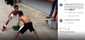 LeBron James pide información de niño dominicano que se observa en vídeo jugando baloncesto