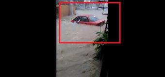 VIDEO: Lluvias provocan inundaciones momentáneas en sectores de Santiago