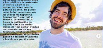 Segundo youtuber más famoso del mundo maravillado con playas dominicanas