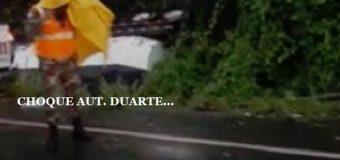 VIDEO: Choque múltiple en la Autopista Duarte…