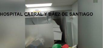 EN SANTIAGO, se desploma techo del área de quirófanos en hospital Cabral y Báez