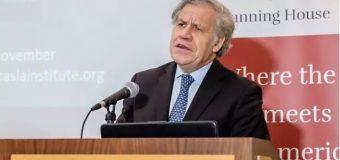 """Almagro dice que quien cometió un """"golpe de Estado"""" fue Evo Morales"""