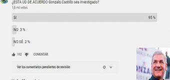 95% dice Gonzalo Castillo debe ser investigado…